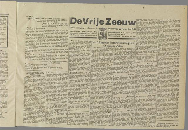 de Vrije Zeeuw 1944-11-30