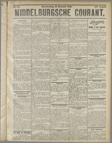 Middelburgsche Courant 1921-10-13