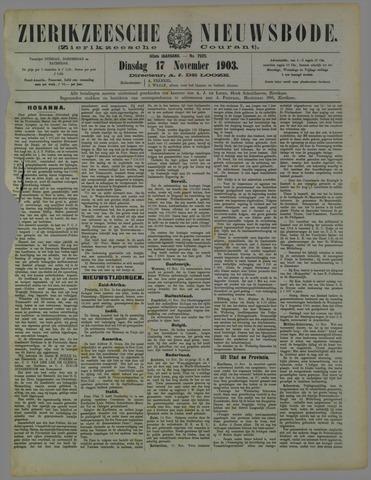 Zierikzeesche Nieuwsbode 1903-11-17