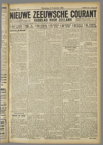 Nieuwe Zeeuwsche Courant 1922-11-22