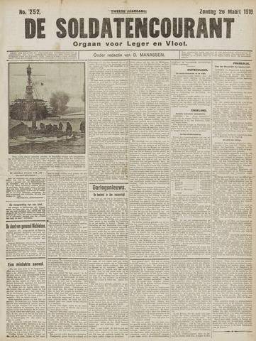 De Soldatencourant. Orgaan voor Leger en Vloot 1916-03-26