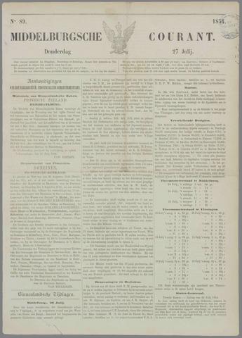 Middelburgsche Courant 1854-07-27