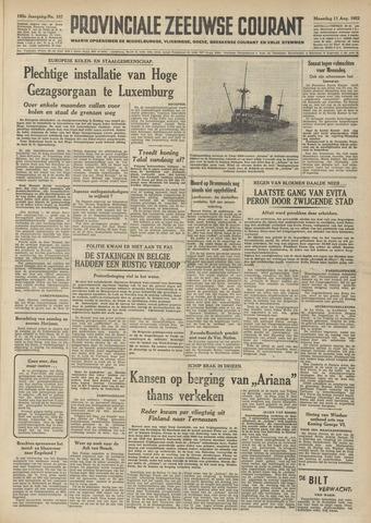 Provinciale Zeeuwse Courant 1952-08-11