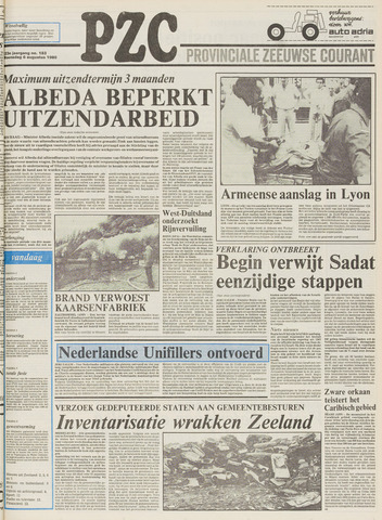 Provinciale Zeeuwse Courant 1980-08-06