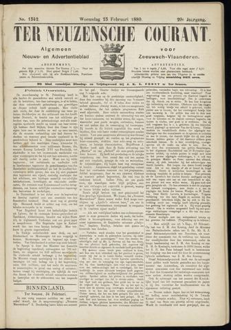 Ter Neuzensche Courant. Algemeen Nieuws- en Advertentieblad voor Zeeuwsch-Vlaanderen / Neuzensche Courant ... (idem) / (Algemeen) nieuws en advertentieblad voor Zeeuwsch-Vlaanderen 1880-02-25