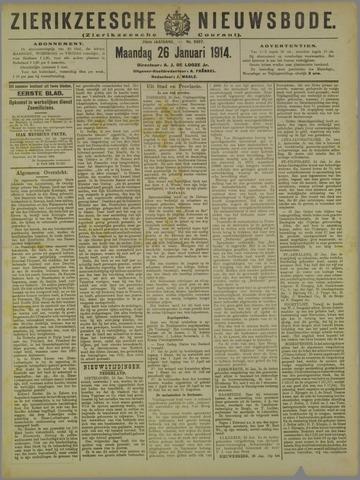 Zierikzeesche Nieuwsbode 1914-01-26