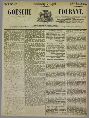 Goessche Courant 1881-04-07