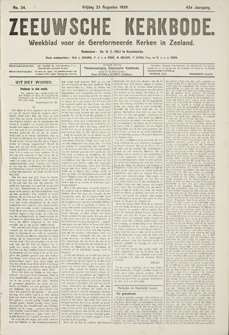 Zeeuwsche kerkbode, weekblad gewijd aan de belangen der gereformeerde kerken/ Zeeuwsch kerkblad 1929-08-23
