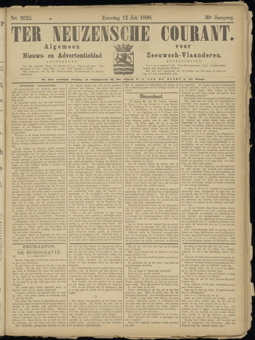 Ter Neuzensche Courant. Algemeen Nieuws- en Advertentieblad voor Zeeuwsch-Vlaanderen / Neuzensche Courant ... (idem) / (Algemeen) nieuws en advertentieblad voor Zeeuwsch-Vlaanderen 1890-07-12