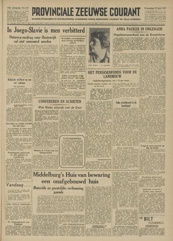 Provinciale Zeeuwse Courant 1949-06-22