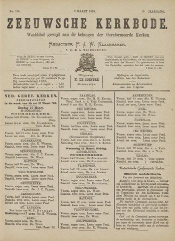 Zeeuwsche kerkbode, weekblad gewijd aan de belangen der gereformeerde kerken/ Zeeuwsch kerkblad 1889-03-09