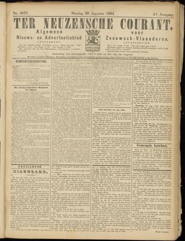 Ter Neuzensche Courant. Algemeen Nieuws- en Advertentieblad voor Zeeuwsch-Vlaanderen / Neuzensche Courant ... (idem) / (Algemeen) nieuws en advertentieblad voor Zeeuwsch-Vlaanderen 1904-08-30