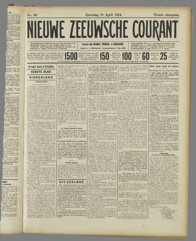 Nieuwe Zeeuwsche Courant 1914-04-18