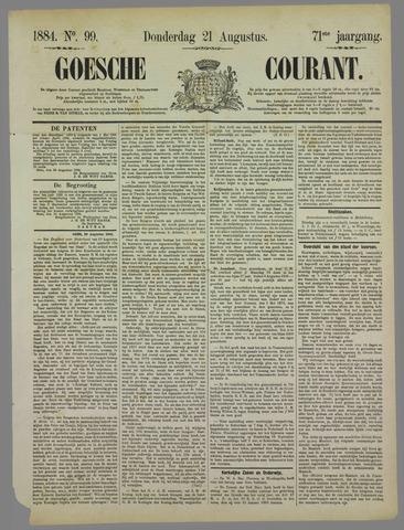 Goessche Courant 1884-08-21