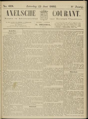 Axelsche Courant 1892-06-25
