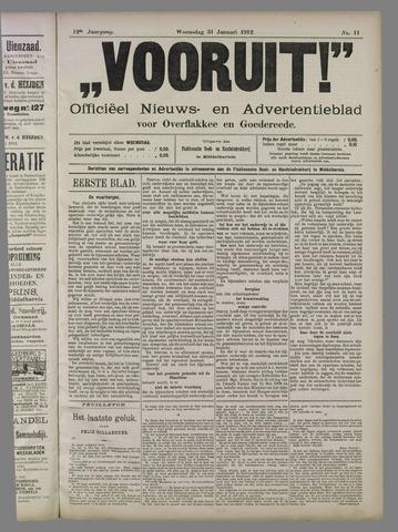 """""""Vooruit!""""Officieel Nieuws- en Advertentieblad voor Overflakkee en Goedereede 1912-01-31"""