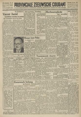 Provinciale Zeeuwse Courant 1947-01-18