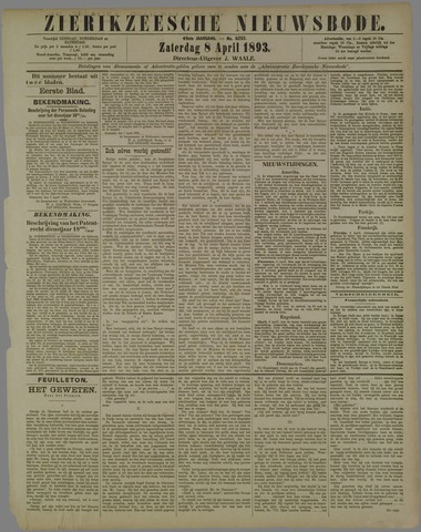 Zierikzeesche Nieuwsbode 1893-04-08