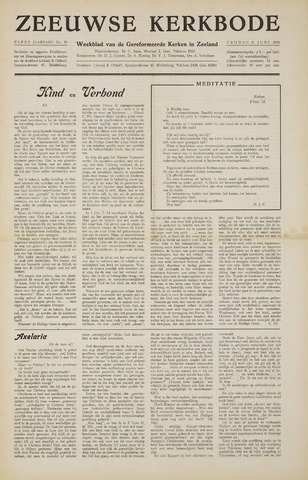 Zeeuwsche kerkbode, weekblad gewijd aan de belangen der gereformeerde kerken/ Zeeuwsch kerkblad 1956-06-08
