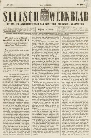 Sluisch Weekblad. Nieuws- en advertentieblad voor Westelijk Zeeuwsch-Vlaanderen 1864-03-04