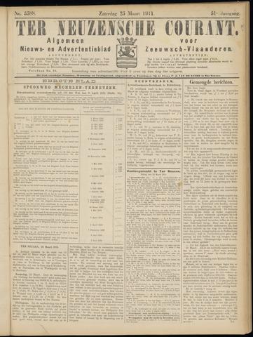 Ter Neuzensche Courant. Algemeen Nieuws- en Advertentieblad voor Zeeuwsch-Vlaanderen / Neuzensche Courant ... (idem) / (Algemeen) nieuws en advertentieblad voor Zeeuwsch-Vlaanderen 1911-03-25