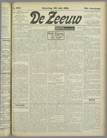 De Zeeuw. Christelijk-historisch nieuwsblad voor Zeeland 1921-07-30