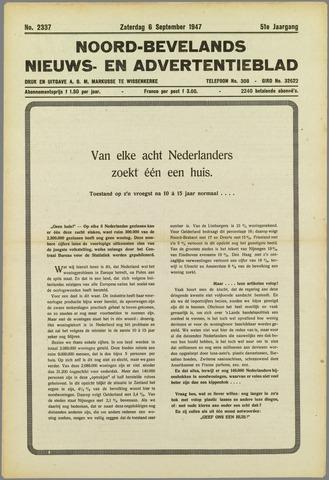 Noord-Bevelands Nieuws- en advertentieblad 1947-09-06
