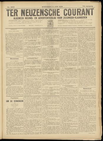 Ter Neuzensche Courant. Algemeen Nieuws- en Advertentieblad voor Zeeuwsch-Vlaanderen / Neuzensche Courant ... (idem) / (Algemeen) nieuws en advertentieblad voor Zeeuwsch-Vlaanderen 1934-06-06