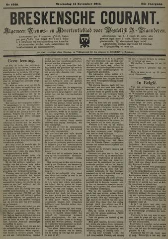 Breskensche Courant 1914-11-11