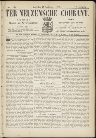 Ter Neuzensche Courant. Algemeen Nieuws- en Advertentieblad voor Zeeuwsch-Vlaanderen / Neuzensche Courant ... (idem) / (Algemeen) nieuws en advertentieblad voor Zeeuwsch-Vlaanderen 1879-09-13