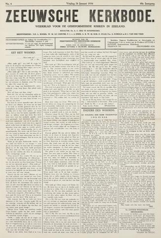 Zeeuwsche kerkbode, weekblad gewijd aan de belangen der gereformeerde kerken/ Zeeuwsch kerkblad 1934-01-26