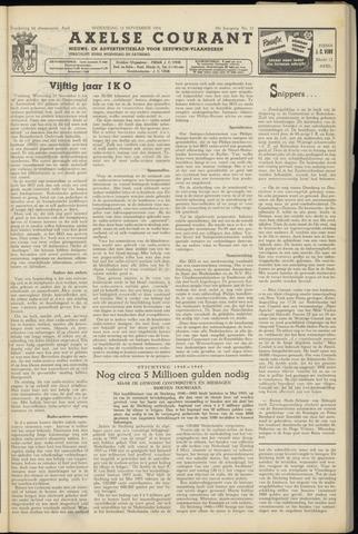 Axelsche Courant 1954-11-10