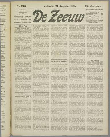 De Zeeuw. Christelijk-historisch nieuwsblad voor Zeeland 1915-08-21