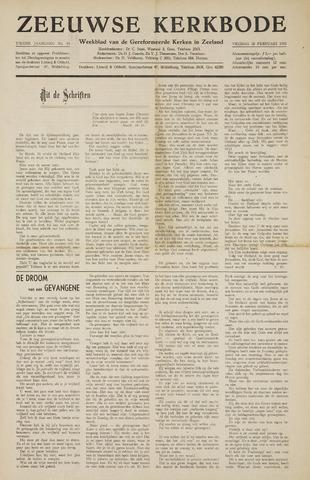 Zeeuwsche kerkbode, weekblad gewijd aan de belangen der gereformeerde kerken/ Zeeuwsch kerkblad 1955-02-18