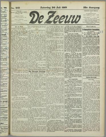 De Zeeuw. Christelijk-historisch nieuwsblad voor Zeeland 1918-07-20