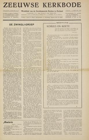 Zeeuwsche kerkbode, weekblad gewijd aan de belangen der gereformeerde kerken/ Zeeuwsch kerkblad 1957-02-01