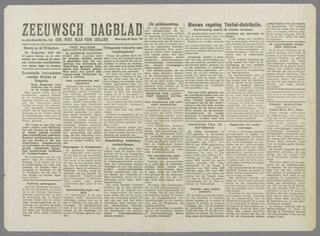 Zeeuwsch Dagblad 1945-09-24