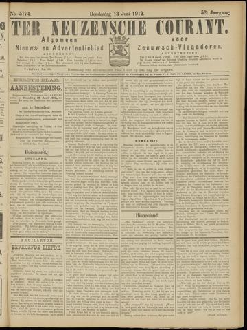 Ter Neuzensche Courant. Algemeen Nieuws- en Advertentieblad voor Zeeuwsch-Vlaanderen / Neuzensche Courant ... (idem) / (Algemeen) nieuws en advertentieblad voor Zeeuwsch-Vlaanderen 1912-06-13