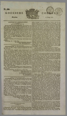 Goessche Courant 1833-07-15