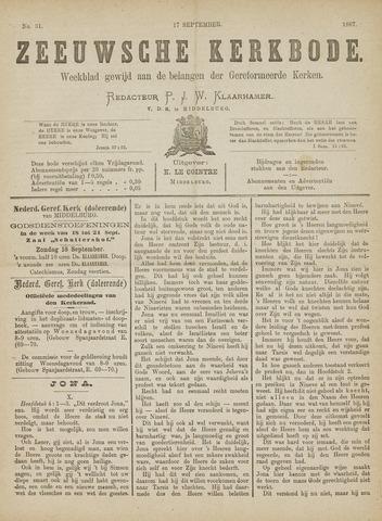 Zeeuwsche kerkbode, weekblad gewijd aan de belangen der gereformeerde kerken/ Zeeuwsch kerkblad 1887-09-17