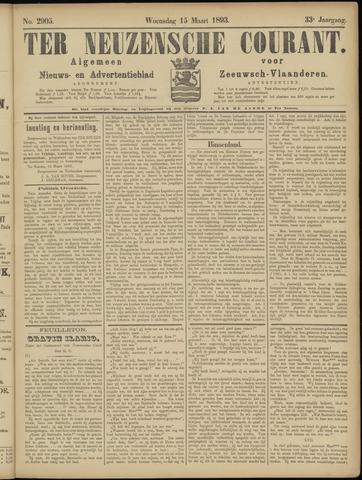 Ter Neuzensche Courant. Algemeen Nieuws- en Advertentieblad voor Zeeuwsch-Vlaanderen / Neuzensche Courant ... (idem) / (Algemeen) nieuws en advertentieblad voor Zeeuwsch-Vlaanderen 1893-03-15