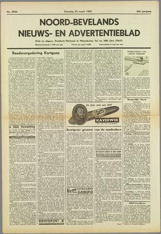 Noord-Bevelands Nieuws- en advertentieblad 1957-03-23