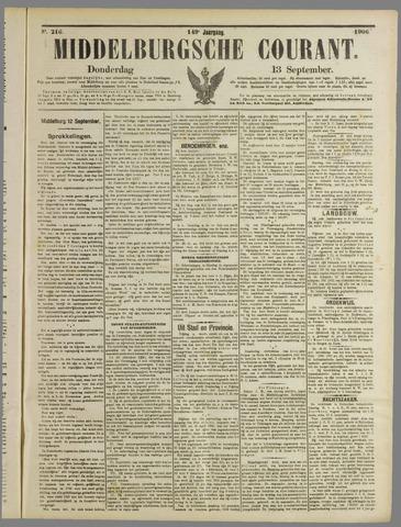 Middelburgsche Courant 1906-09-13
