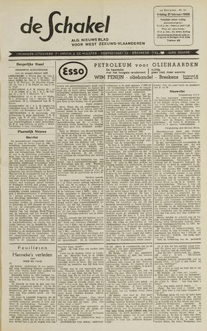 De Schakel 1958-02-21