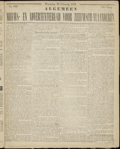 Ter Neuzensche Courant. Algemeen Nieuws- en Advertentieblad voor Zeeuwsch-Vlaanderen / Neuzensche Courant ... (idem) / (Algemeen) nieuws en advertentieblad voor Zeeuwsch-Vlaanderen 1873-02-26