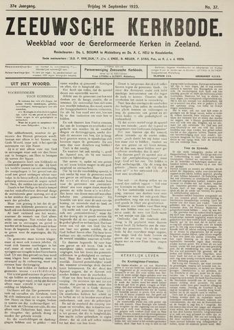 Zeeuwsche kerkbode, weekblad gewijd aan de belangen der gereformeerde kerken/ Zeeuwsch kerkblad 1923-09-14