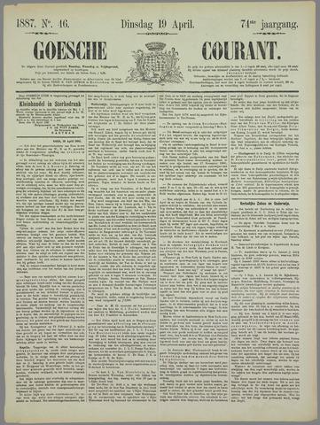 Goessche Courant 1887-04-19