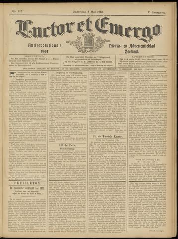 Luctor et Emergo. Antirevolutionair nieuws- en advertentieblad voor Zeeland / Zeeuwsch-Vlaanderen. Orgaan ter verspreiding van de christelijke beginselen in Zeeuwsch-Vlaanderen 1912-05-04
