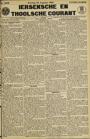 Ierseksche en Thoolsche Courant 1923-08-25