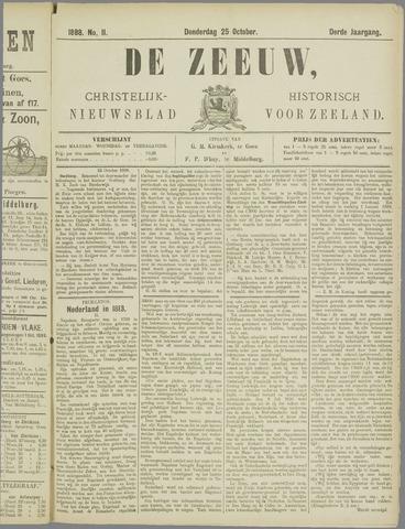 De Zeeuw. Christelijk-historisch nieuwsblad voor Zeeland 1888-10-25